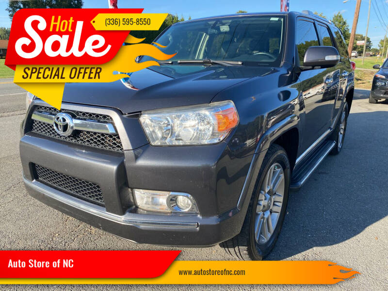 2012 Toyota 4Runner for sale at Auto Store of NC in Walkertown NC