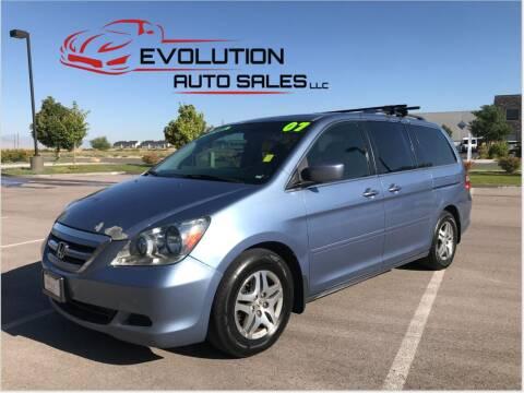 2007 Honda Odyssey for sale at Evolution Auto Sales LLC in Springville UT