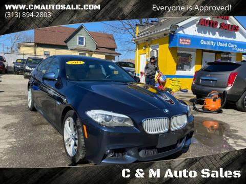 2011 BMW 5 Series for sale at C & M Auto Sales in Detroit MI