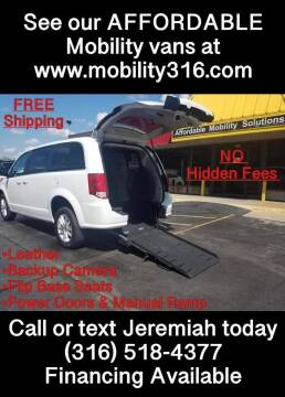 2018 Dodge Grand Caravan for sale at Affordable Mobility Solutions, LLC - Mobility/Wheelchair Accessible Inventory-Wichita in Wichita KS