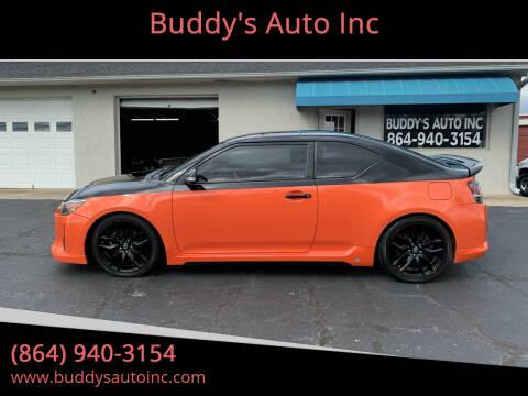 2015 Scion tC for sale at Buddy's Auto Inc in Pendleton, SC