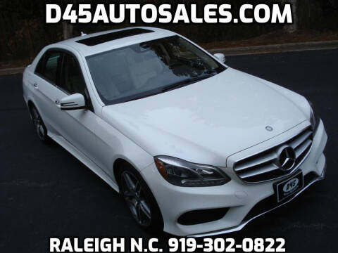 2015 Mercedes-Benz E-Class for sale at D45 Auto Brokers in Raleigh NC