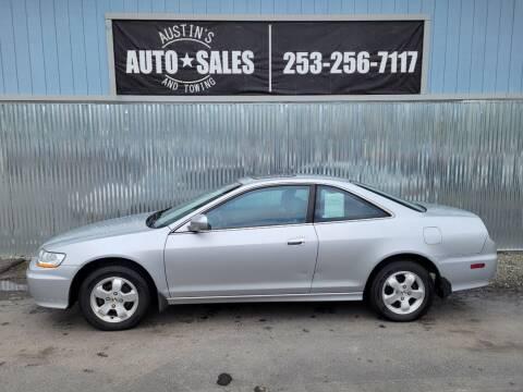 2001 Honda Accord for sale at Austin's Auto Sales in Edgewood WA