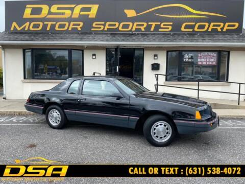 1986 Ford Thunderbird for sale at DSA Motor Sports Corp in Commack NY