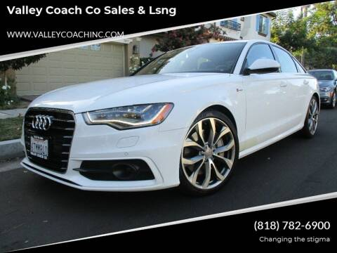 2012 Audi A6 for sale at Valley Coach Co Sales & Lsng in Van Nuys CA