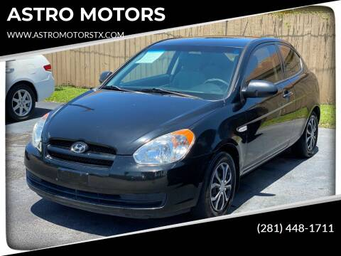 2008 Hyundai Accent for sale at ASTRO MOTORS in Houston TX