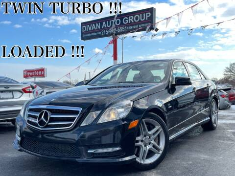 2012 Mercedes-Benz E-Class for sale at Divan Auto Group in Feasterville PA