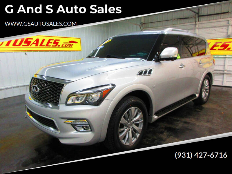2016 Infiniti QX80 for sale at G and S Auto Sales in Ardmore TN