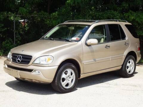 2003 Mercedes-Benz M-Class for sale at Kaners Motor Sales in Huntingdon Valley PA