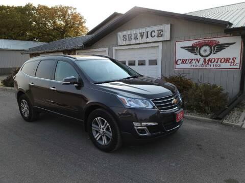 2017 Chevrolet Traverse for sale at CRUZ'N MOTORS in Spirit Lake IA