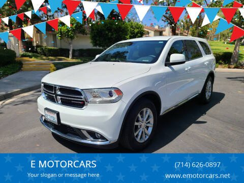 2018 Dodge Durango for sale at E MOTORCARS in Fullerton CA