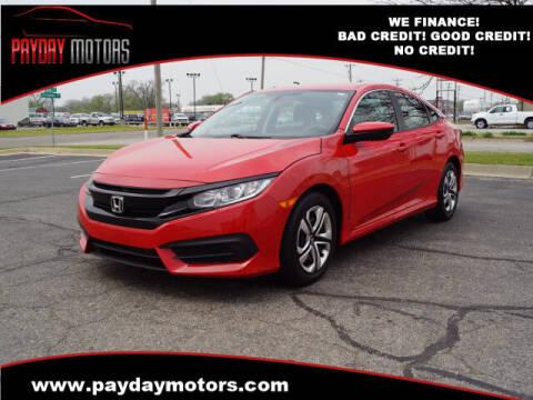 2018 Honda Civic for sale at Payday Motors in Wichita And Topeka KS