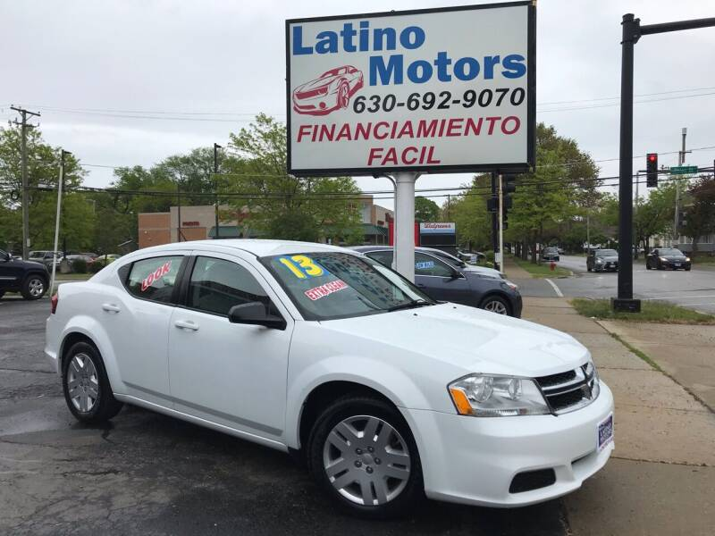 2013 Dodge Avenger for sale at Latino Motors in Aurora IL