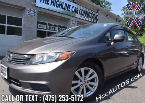 2012 Honda Civic for sale at The Highline Car Connection in Waterbury CT