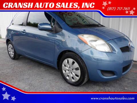 2009 Toyota Yaris for sale at CRANSH AUTO SALES, INC in Arlington TX