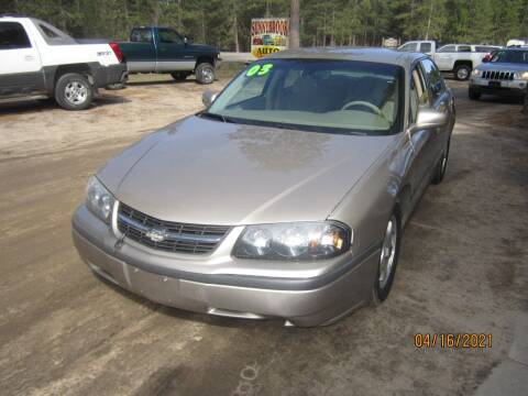 2003 Chevrolet Impala for sale at SUNNYBROOK USED CARS in Menahga MN