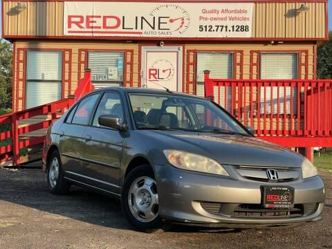 2004 Honda Civic for sale at REDLINE AUTO SALES LLC in Cedar Creek TX