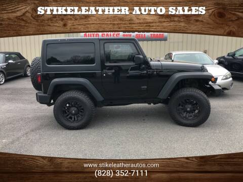 2014 Jeep Wrangler for sale at Stikeleather Auto Sales in Taylorsville NC