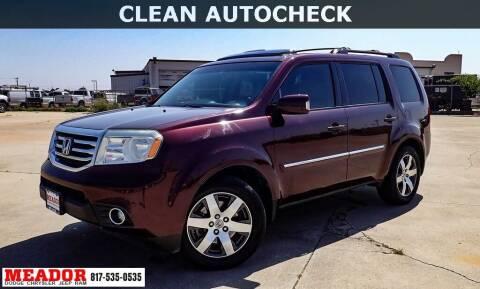 2012 Honda Pilot for sale at Meador Dodge Chrysler Jeep RAM in Fort Worth TX