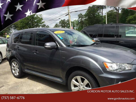 2012 Mitsubishi Outlander for sale at Gordon Motor Auto Sales Inc. in Norfolk VA