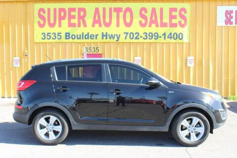 2012 Kia Sportage for sale at Super Auto Sales in Las Vegas NV
