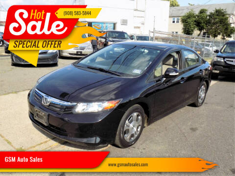 2012 Honda Civic for sale at GSM Auto Sales in Linden NJ