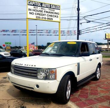 2005 Land Rover Range Rover for sale at CAPITOL AUTO SALES LLC in Baton Rouge LA