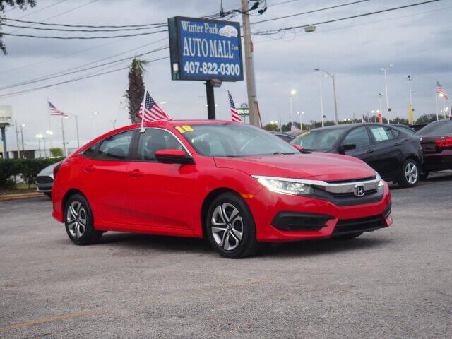 2018 Honda Civic for sale at Winter Park Auto Mall in Orlando FL