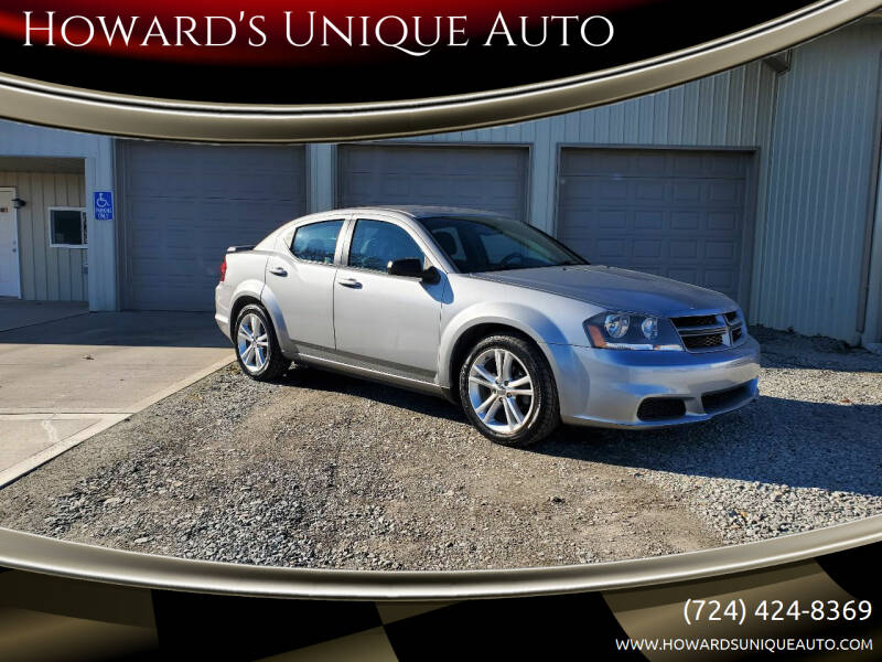 2014 Dodge Avenger for sale at Howard's Unique Auto LLC in Mount Pleasant PA