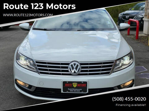 2016 Volkswagen CC for sale at Route 123 Motors in Norton MA