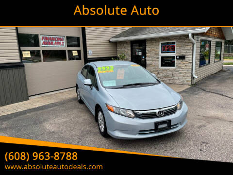 2012 Honda Civic for sale at Absolute Auto in Baraboo WI