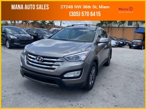 2014 Hyundai Santa Fe Sport for sale at MANA AUTO SALES in Miami FL