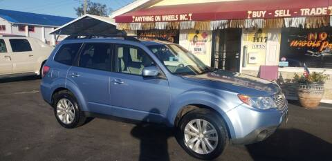2011 Subaru Forester for sale at ANYTHING ON WHEELS INC in Deland FL