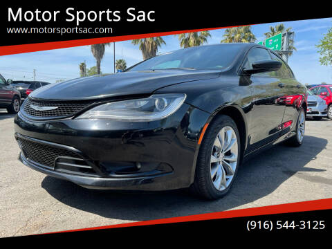 2015 Chrysler 200 for sale at Motor Sports Sac in Sacramento CA