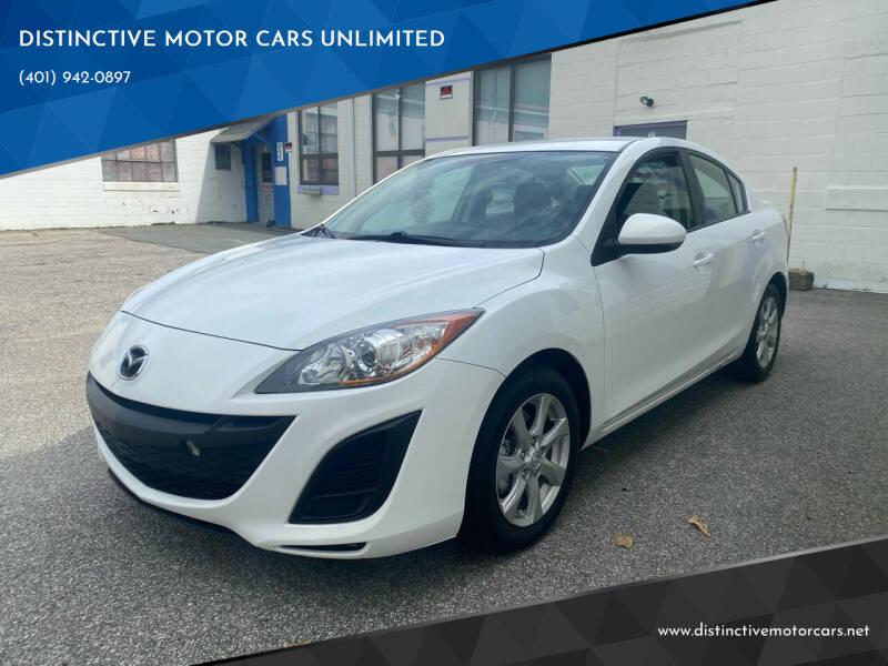 2011 Mazda MAZDA3 for sale at DISTINCTIVE MOTOR CARS UNLIMITED in Johnston RI