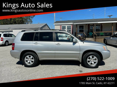 2003 Toyota Highlander for sale at Kings Auto Sales in Cadiz KY