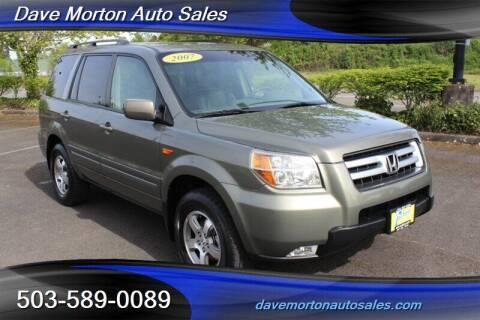 2007 Honda Pilot for sale at Dave Morton Auto Sales in Salem OR