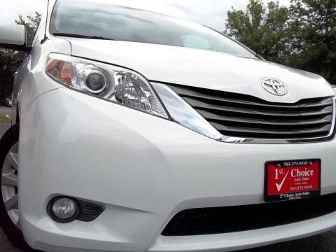 2013 Toyota Sienna for sale at 1st Choice Auto Sales in Fairfax VA