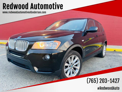 2013 BMW X3 for sale at Redwood Automotive in Anderson IN