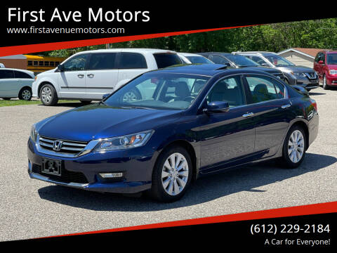 2013 Honda Accord for sale at First Ave Motors in Shakopee MN