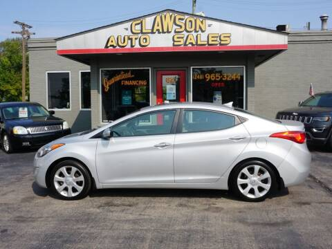 2013 Hyundai Elantra for sale at Clawson Auto Sales in Clawson MI