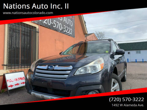 2013 Subaru Outback for sale at Nations Auto Inc. II in Denver CO