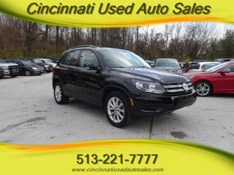 2017 Volkswagen Tiguan for sale at Cincinnati Used Auto Sales in Cincinnati OH