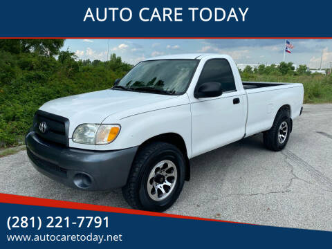 2003 Toyota Tundra for sale at AUTO CARE TODAY in Spring TX