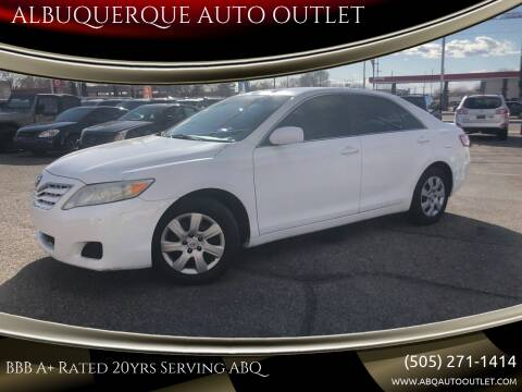 2010 Toyota Camry for sale at ALBUQUERQUE AUTO OUTLET in Albuquerque NM