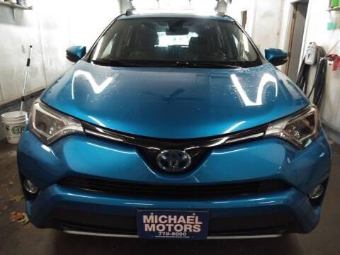 2017 Toyota RAV4 Hybrid for sale at MICHAEL MOTORS in Farmington ME