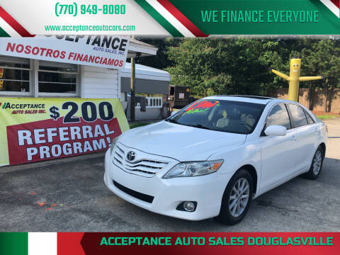 2010 Toyota Camry for sale at Acceptance Auto Sales Douglasville in Douglasville GA