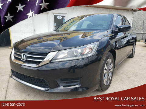 2013 Honda Accord for sale at Best Royal Car Sales in Dallas TX