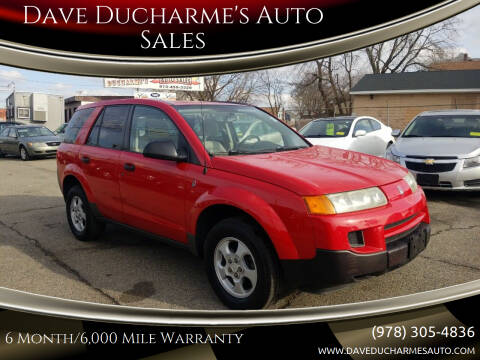 2004 Saturn Vue for sale at Dave Ducharme's Auto Sales in Lowell MA
