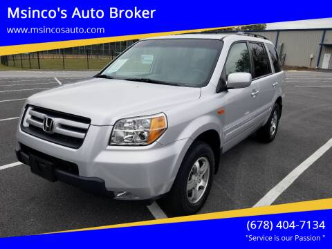 2008 Honda Pilot for sale at Msinco's Auto Broker in Snellville GA
